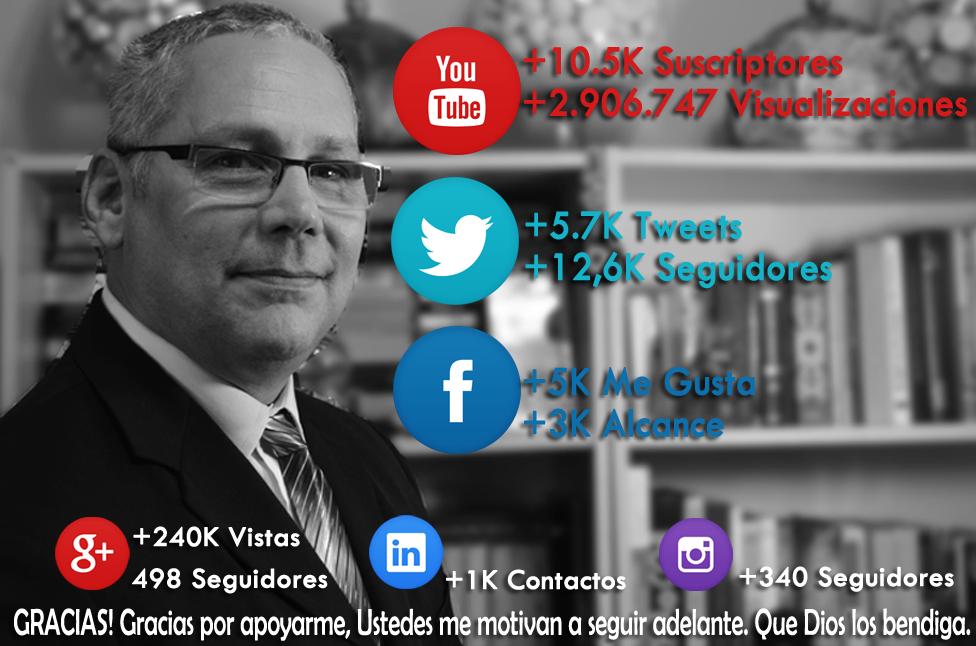 Ricardo Latouche Tarot Recuento de Redes sociales Facebook, Twitter, Youtube, Google+, Linkedin, Instagram