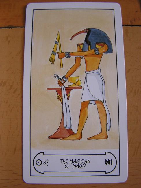El Mago, Tarot Egipcio